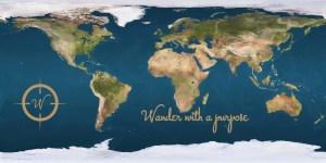 Wanderonomy Earth Map - Wander with a purpose