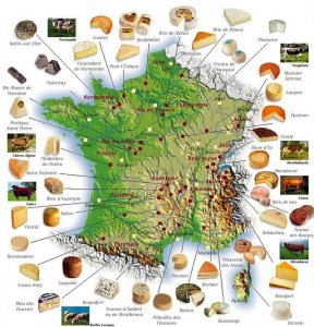 Map of French Cheeses
