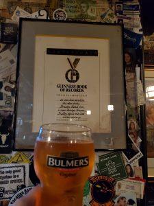Guiness Book of Records Certificate The Brazen Head Pub, Dublin, Ireland