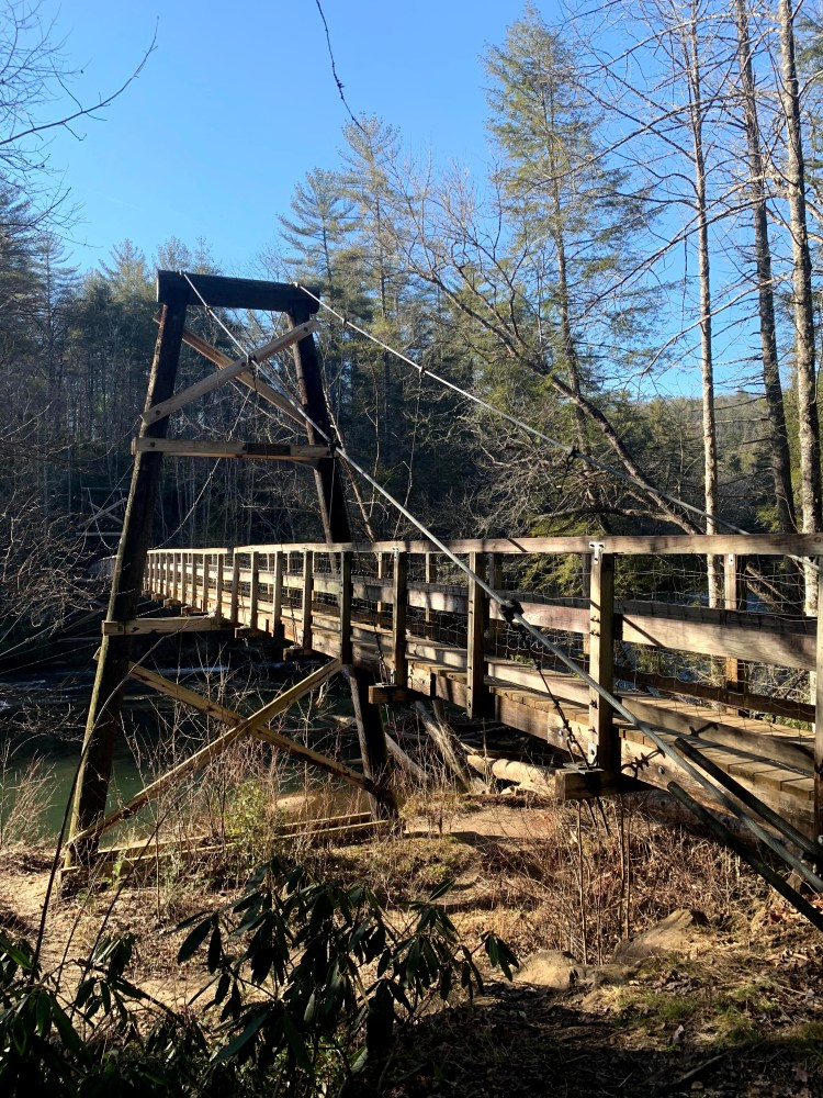 Exciting Places in the Blue Ridge Mountains swinging bridge