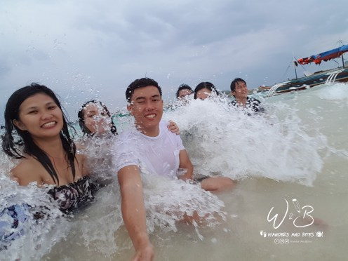 Group Shot in Waves
