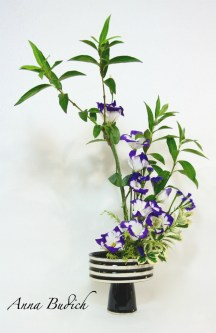 Purple Flowers Ikebana
