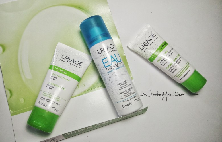 The promotion set that I bought with Uriage Global Skin-care is the main product.