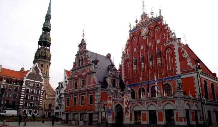 House of Blackheads in Rega, Latvia
