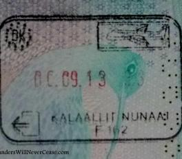 Passport stamp from Kulusuk, Greenland