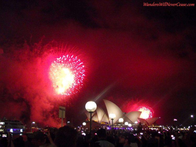 Sydney Australia NYE Opera House Fireworks