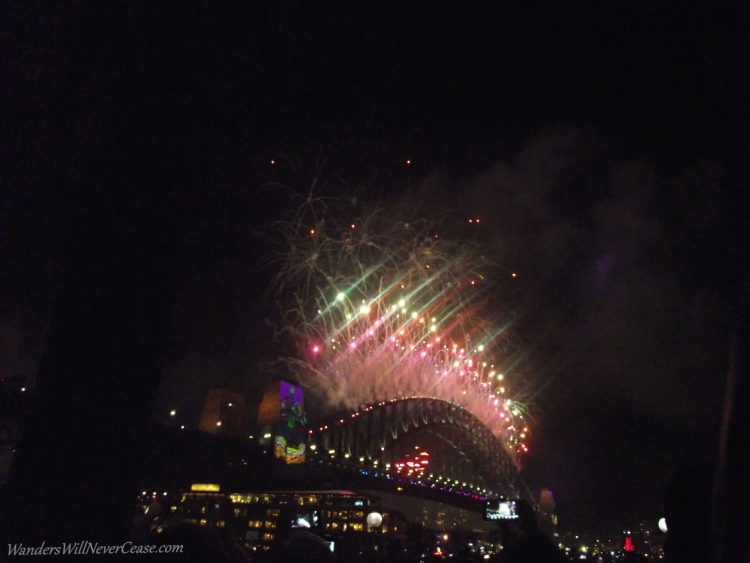 NYE Sydney Australia Harbour Bridge Fireworks