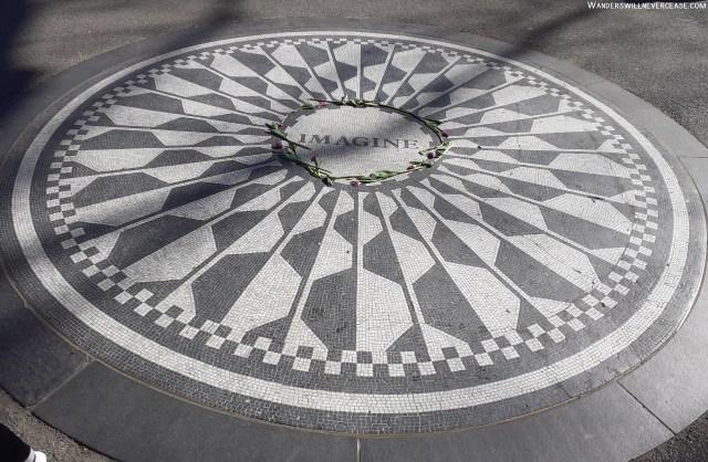 Imagine Strawberry Fields Central Park John Lennon New York