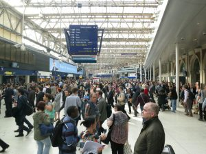 Waterloo Station:  Yes, this chaos is organized.  Mostly.