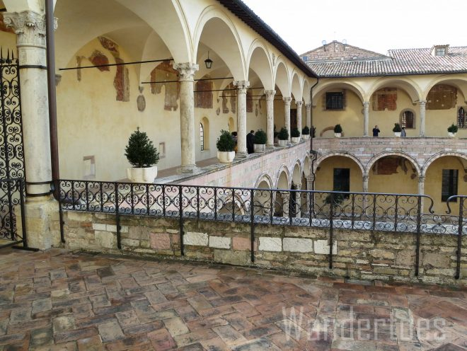 Assissi Church Courtyard Watermark