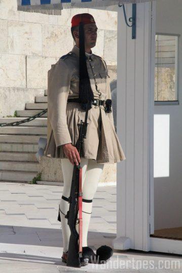Evzones Standing Guard Wandertoes