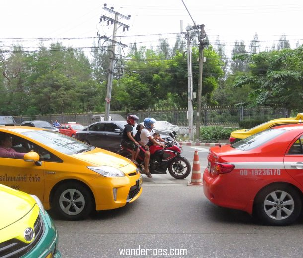 Thailand Traffic crazy scary things we see two children on motorbike no helmet