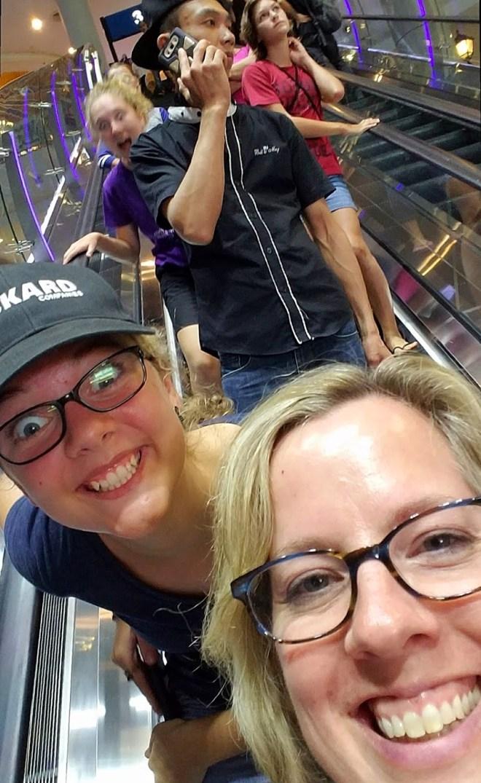 Terminal 21 Escalator Selfie