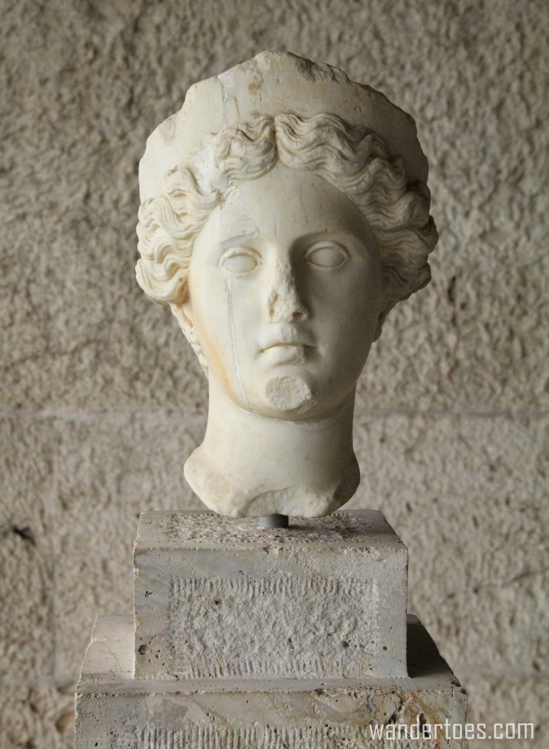 Bust of Athenian woman in Ancient Agora of Athens