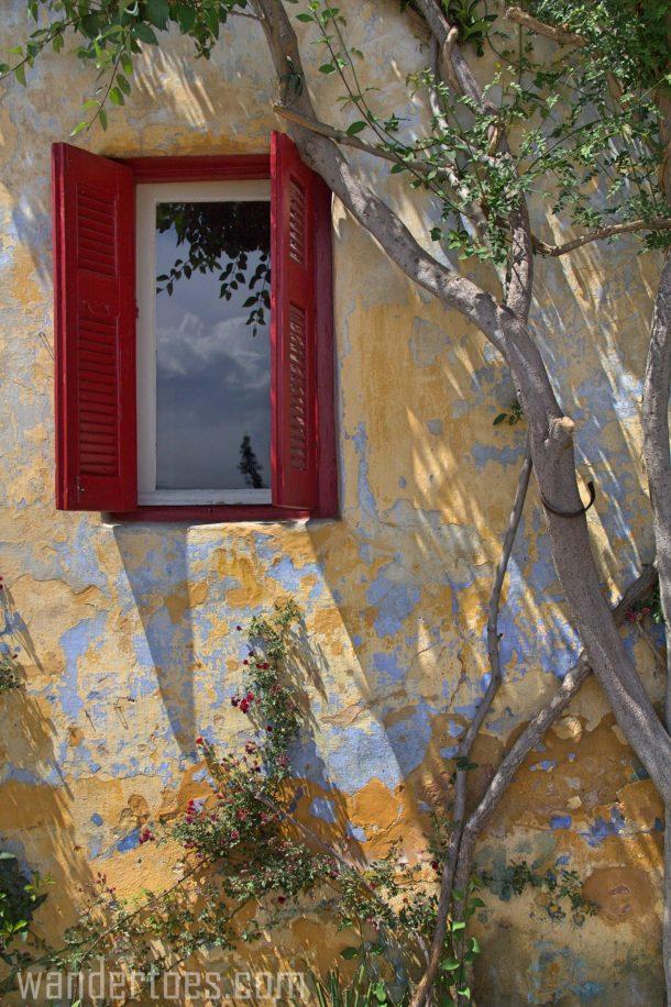 Anafiotika Plaka Athens Greece Travel Photography shuttered window