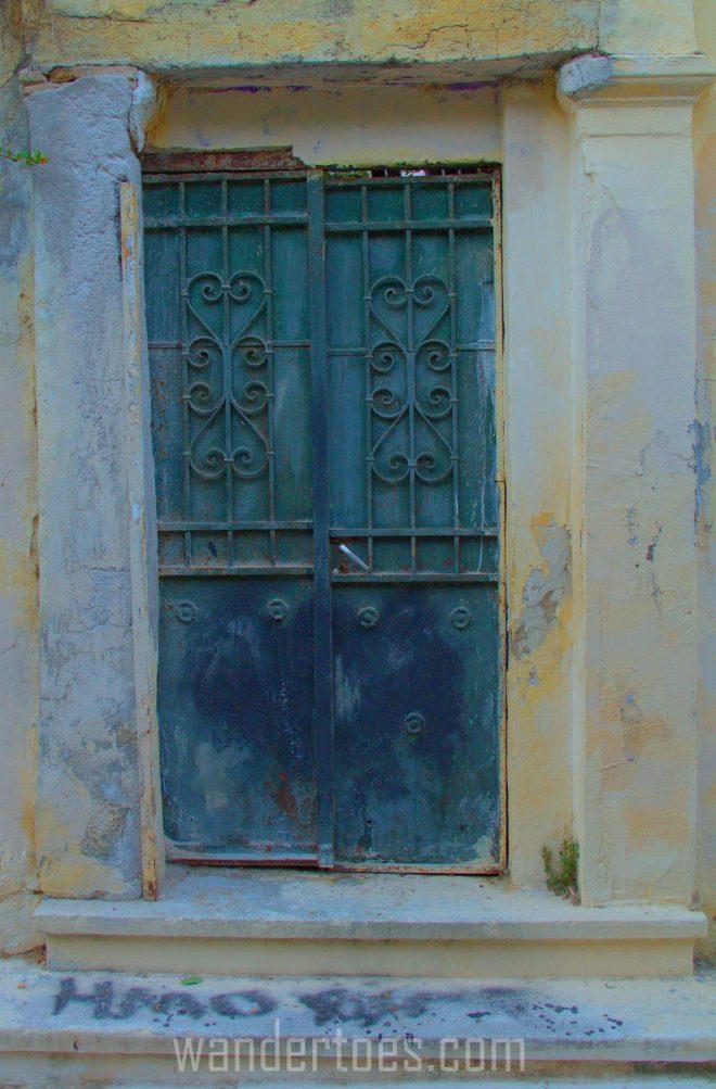 Green Grafitti Door
