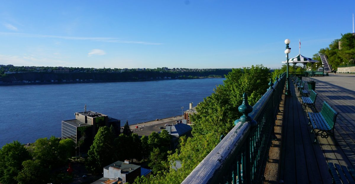 Terrasse Dufferin St. Lawrence River morning solo female travel solo mom travel