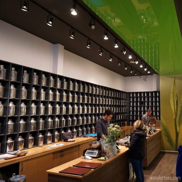 Interior of Camellia Sinensis Tea House.  Foodie Travel, St. Roch, Quebec City