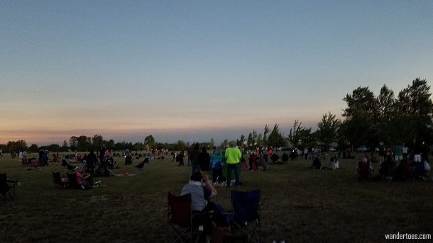 Our viewing field at totality.  Eclipse 2017 totality photos.