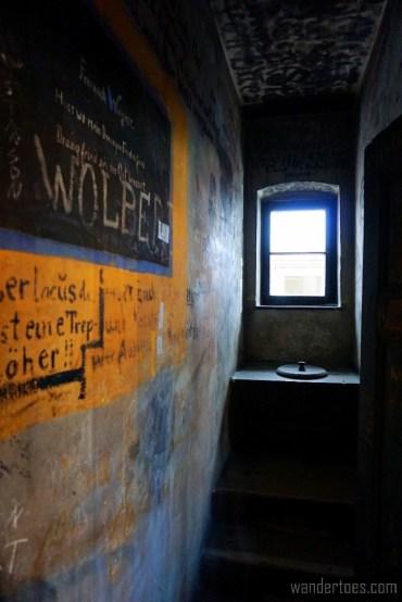 "The ""King's Throne"" within the prison.  Heidelberg Studentenkarzer Student Prison."