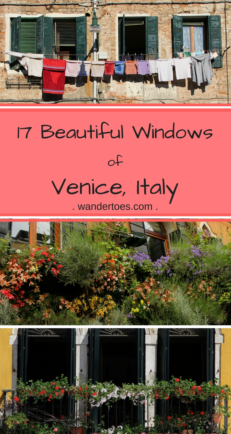 Windows of Venice Italy - a beautiful wander through the streets of Venice, sharing photos of my favorite distinctive windows.