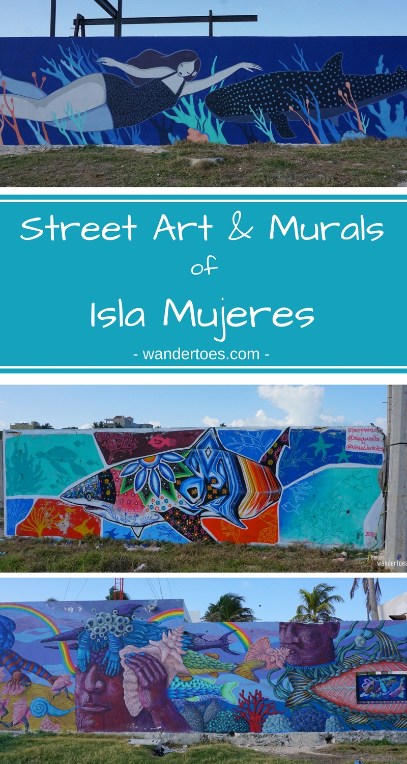 Isla Mujeres, Cancun, Mexico:  Colorful street art to raise awareness about the need for conservation of our seal life and oceans.