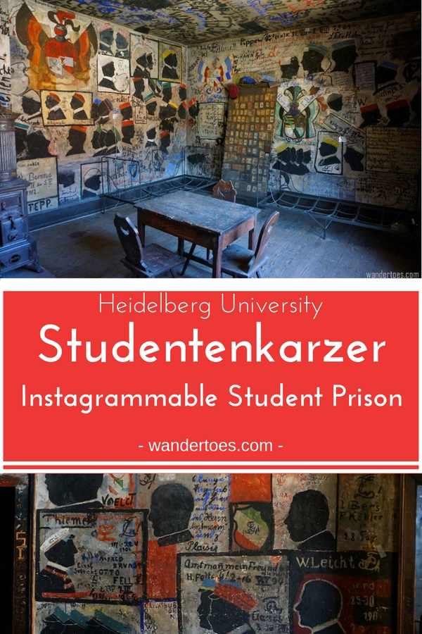 Heidelberg, Germany: See the endlessly instagrammable Studentenkarzer, Heidelberg's student prison, in use from the 14th century until WWI and perfectly preserved for our eyes! | Studentenkarzer | Heidelberg Student Prison | Student Prison | Studentenkarzer Heidelberg | #HeidelbergGermany #HeidelbergUniversity #Studentenkarzer #HeidelbergStudentenkarzer #HeidelbergStudentPrison #Heidelberg