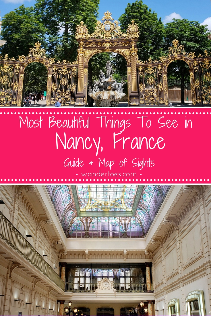 Nancy, France:  Use this list of beautiful things to do in Nancy France (map included) to walk through the world heritage sites, old town, the art nouveau Charles III area, and more! | Use this list of things to do in Nancy France (map included) to walk through the world heritage sites, old town, the art nouveau Charles III area, and more!