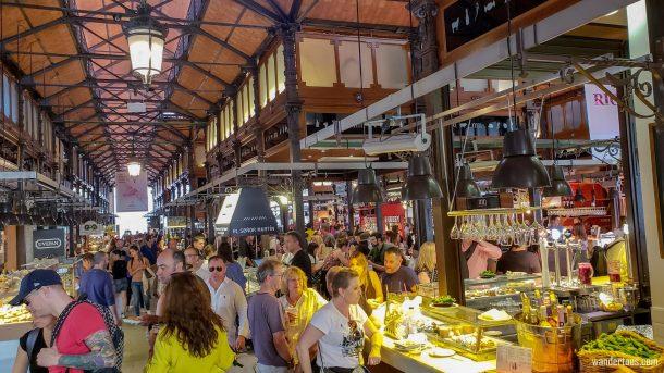 Mercado San Miguel Madrid Food Market Patrons