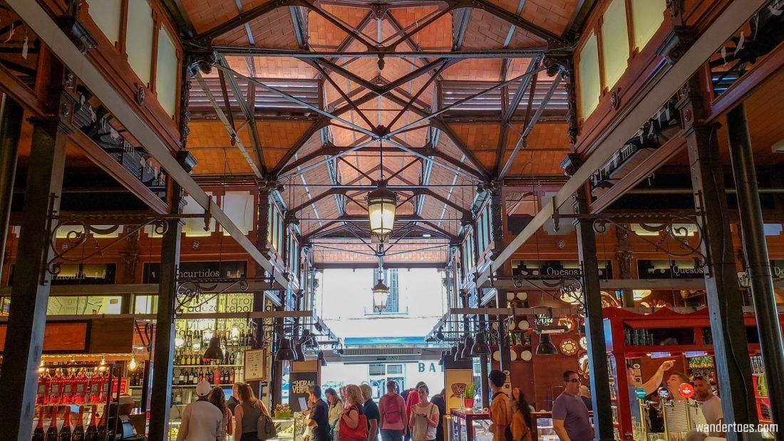 Mercado San Miguel Madrid Food Market Entrance Interior