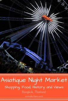 Bangkok, Thailand: Asiatique Night Market Bangkok offers food, shopping, and Bangkok history. Plan a trip to this famous night market in Bangkok during your visit!