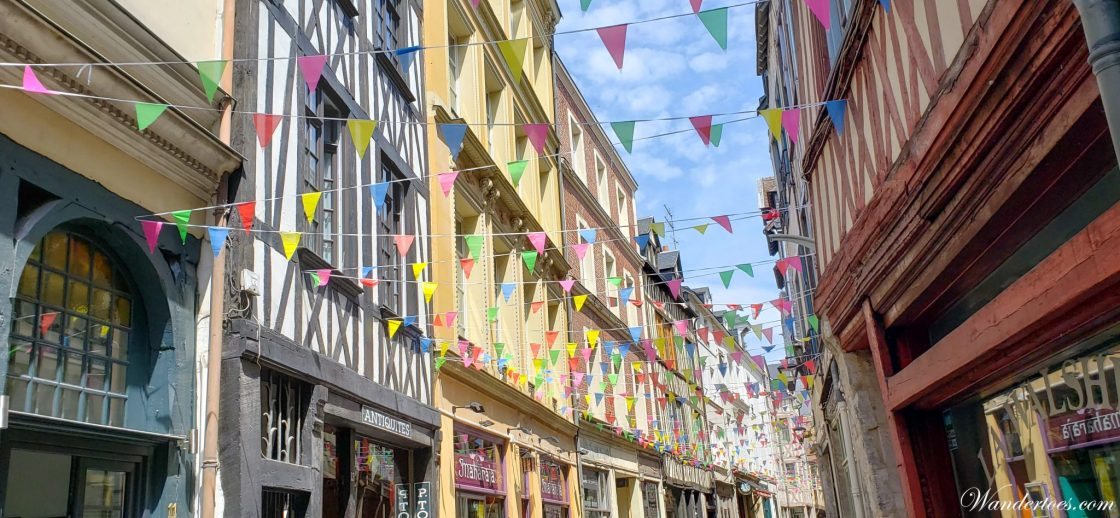 Day trips from paris by train | Rouen Medieval Street