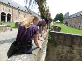 Looking into the moat at Alden Bisen