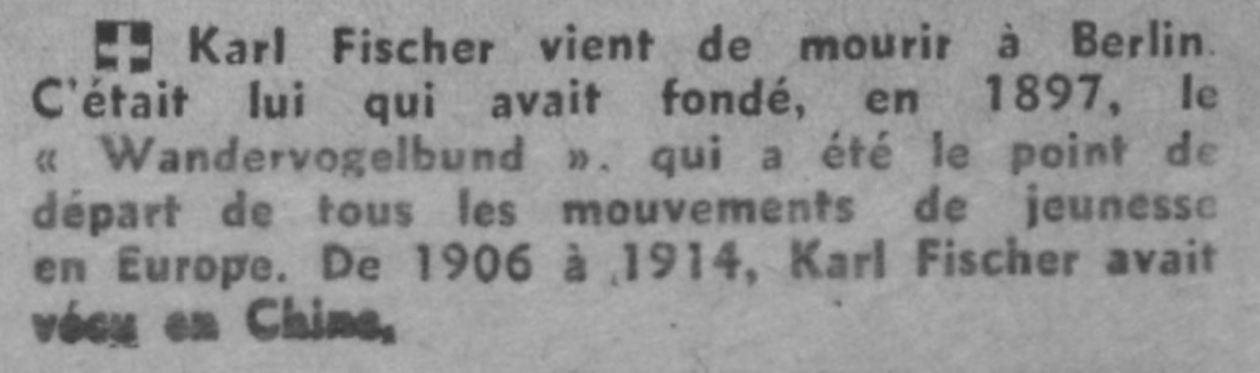 Fischer, Karl - Décès - Journal Comoedia - 05-07-1941