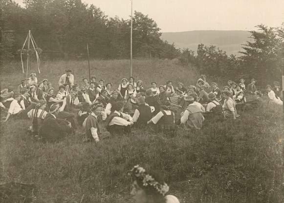 Fotografie , Ausfahrt zur Sonnenwenfeier, 1913, © DLA-Marbach