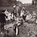 Hohen Meißner - 1913 - Le cercle Sera, créé par Eugen Diederichs se pépare a jouer Iphigenie de Goethe Image: Archiv der deutschen Jugendbewegung, Burg Ludwigstein