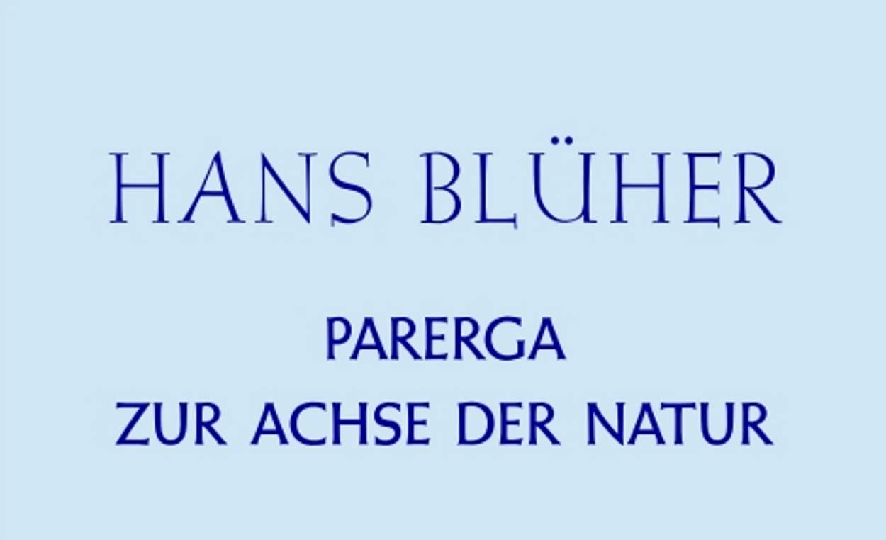 Hans Blüher - Bliobliographie
