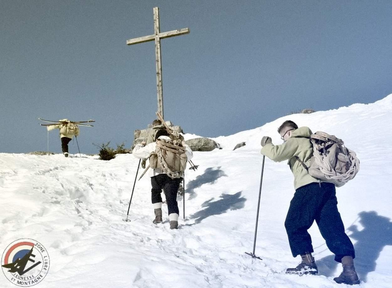 Jeunesse-et-Montagne_Reconstitution_Instruction-alpine