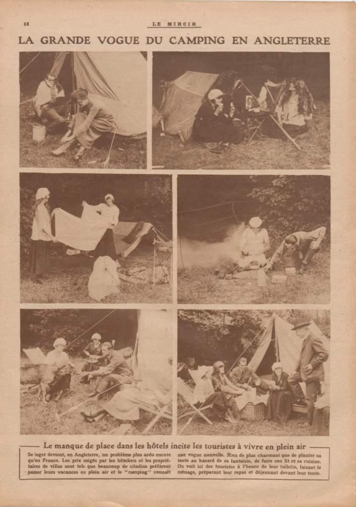 1919-07-06_Le Miroir_La grande vogue du camping en Angleterre