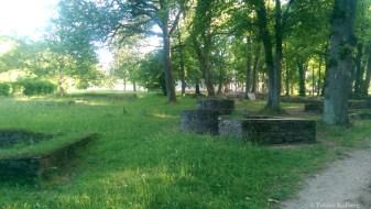 Brunnen vor der Saalburg
