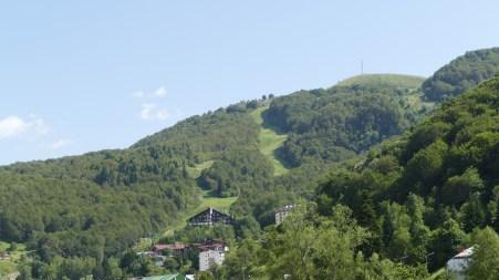 Ski resort in summer