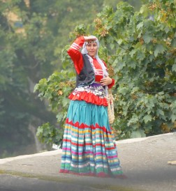 Lady in traditional dress in Masuleh