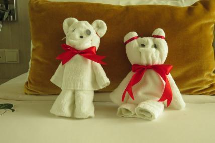 towel teddy bears