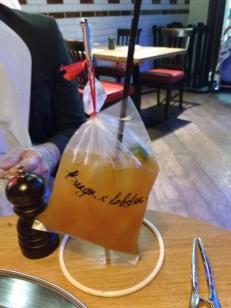 Iced lemon tea mocktail