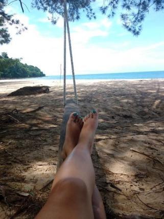 Chilling at satang island