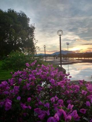 sunset waterfront kuching