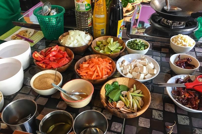 May Kaidee cooking ingredients
