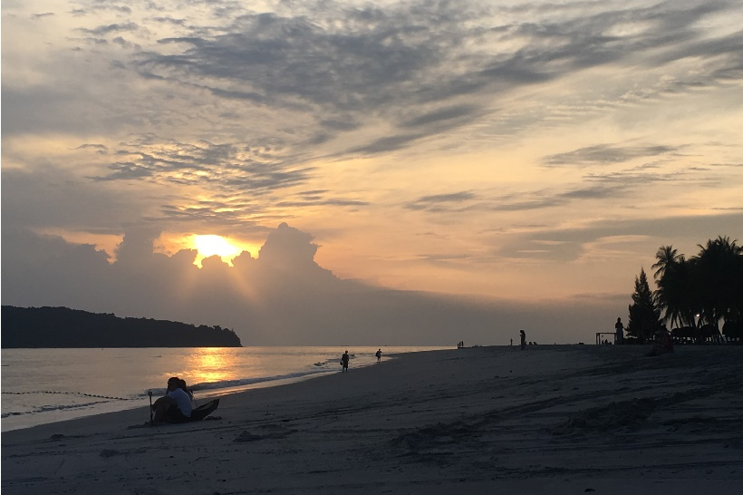 Langkawi beach sunset