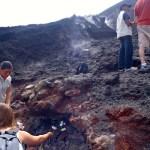Roasting marshmallows atop Volcan Pacaya