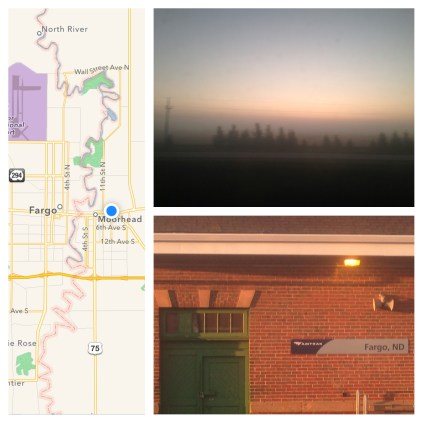 Foggy sunrise in Fargo, ND